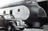 Utopia:  Transport of Tomorrow--Streamlining.  Chrysler Airflow and Pullman Co.  City of Salina, both 1934.  YESTERDAY'S TOMORROWS, p. 94.