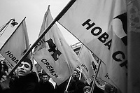 Demonstration in support of Velimir Ilic's New Serbia party. The international community urged the postponement of Kosovo's Independence until the completion of the Serbian presidential elections fearing the declaration would push voters in favor of the right-wing Tomislav Nikolic.