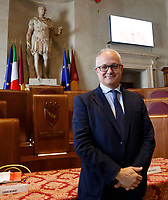 One of the candidates mayor of Rome at the next elections Roberto Gualtieri, during a conference in the Giulio Cesare hall of the Campidoglio. <br /> Rome (Italy), September 15th 2021<br /> Photo Samantha Zucchi Insidefoto