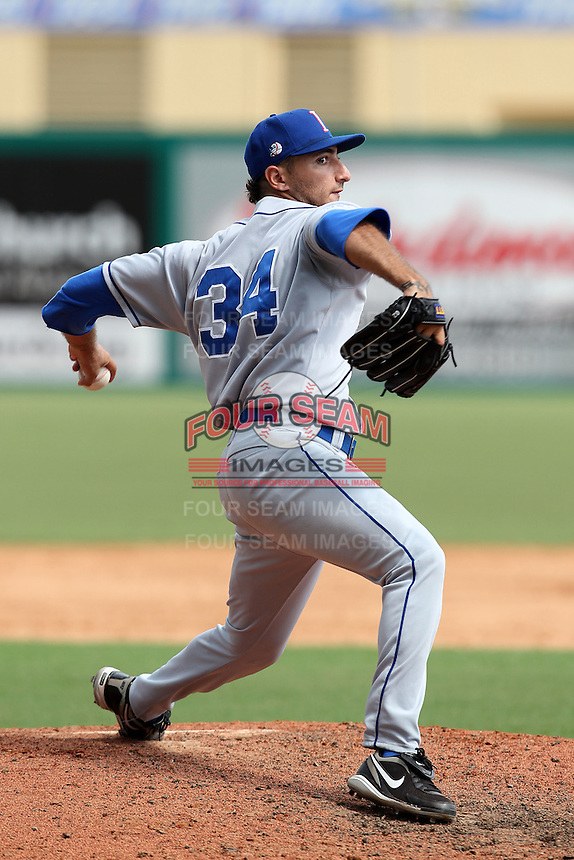 Italy National Team pitcher Luca Panerati #34 during an Instructional League game against the Florida Marlins at Roger Dean Stadium on September 27, 2011 in Jupiter, Florida.  (Mike Janes/Four Seam Images)