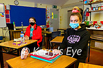 Sarah Walsh and Kate O'Donoghue who sat the Biology leaving cert exam in Presentation secondary Tralee on Monday.