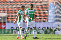 MEDELLIN - COLOMBIA, 18-04-2021: Atlético Nacional y Patriotas Boyacá F.C. en partido por la fecha 19 de la Liga BetPlay DIMAYOR I 2021 jugado en el estadio Atanasio Girardot de la ciudad de Medellín. / Atletico Nacional and Patriotas Boyaca F.C. in match for the date 19 as part of BetPlay DIMAYOR League I 2021 played at Atanasio Girardot stadium in Medellín city. Photo: VizzorImage / Luis Benavides / Cont