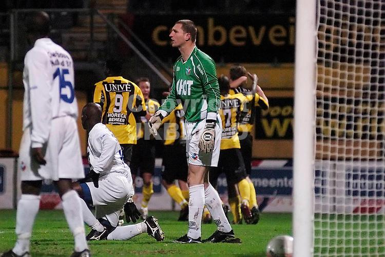 voetbal seizoen 2007-2008 veendam - telstar 09-11-2007 teleurstelling bij telstar na de 1-0