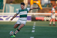 Laurence May of Ealing Trailfinders converts during the Championship Cup Quarter Final match between Ealing Trailfinders and Nottingham Rugby at Castle Bar , West Ealing , England  on 2 February 2019. Photo by Carlton Myrie / PRiME Media Images.
