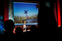 rofessional freeride skier and BASE jumper Karina Hollekim holds a speech for approx. 1300 women at a conference in Oslo, Norway. Karina was seriously hurt in a parachute accident in Switzerland in September 2006. She was told by doctors she would never walk again, but Karina refused to accept this and proved the doctors wrong. She is intent on reclaiming as much of her life back as possible.