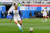 Harrison, NJ - Sunday March 04, 2018: Abby Dahlkemper during a 2018 SheBelieves Cup match match between the women's national teams of the United States (USA) and France (FRA) at Red Bull Arena.