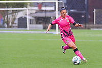 Jessica Silva Valdebenito (18) of Sporting Charleroi pictured during a female soccer game between Sporting Charleroi and Eendracht Aalst on the 8th matchday in play off 2 of the 2020 - 2021 season of Belgian Scooore Womens Super League , tuesday 18 th of May 2021 in Marcinelle , Belgium . PHOTO SPORTPIX.BE   SPP   STIJN AUDOOREN
