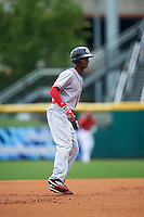 Syracuse Chiefs center fielder Michael Tayler (2) leads off second during a game against the Buffalo Bisons on July 31, 2016 at Coca-Cola Field in Buffalo, New York.  Buffalo defeated Syracuse 6-5.  (Mike Janes/Four Seam Images)