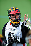 FRANKFURT AM MAIN, GERMANY - April 14: Sabine Paul #1 of Germany during the match of Germany vs Great Britain at the Deutschland Lacrosse International Tournament on April 14, 2013 in Frankfurt am Main, Germany. Great Britain won, 10-9. (Photo by Dirk Markgraf)