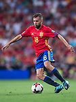 Jordi Alba of Spain in action during their 2018 FIFA World Cup Russia Final Qualification Round 1 Group G match between Spain and Italy on 02 September 2017, at Santiago Bernabeu Stadium, in Madrid, Spain. Photo by Diego Gonzalez / Power Sport Images