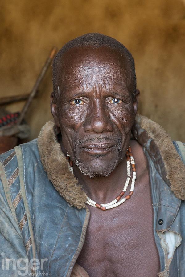 Himba Head Man in remote Kaokoland, Namibia
