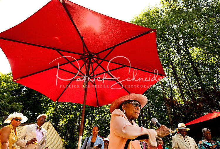 Poet Maya Angelou celebrated a belated 82nd birthday with a few celebrity friends Thursday,  at a garden party at her home, May 20, 2010 in Winston-Salem, N.C.
