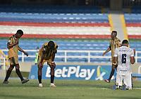 CALI - COLOMBIA, 30-07-2021: Atlético F.C. y Tigres F.C. en partido por la fecha 2 del Torneo BetPlay DIMAYOR II 2021 jugado en el estadio Pascual Guerrero de la ciudad de Cali. / Atletico F.C. and Tigres F.C. in match for the date 2 as part of BetPlay DIMAYOR Tournament II 2021 played at Pascual Guerrero stadium in Cali. Photo: VizzorImage / Gabriel Aponte / Staff