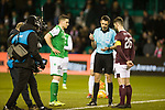 03.03.2020 Hibs v Hearts: No handshake from captains at coin toss