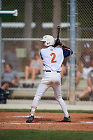 Dylan Strickland during the WWBA World Championship at the Roger Dean Complex on October 20, 2018 in Jupiter, Florida.  Dylan Strickland is a shortstop from Loganville, Georgia who attends Loganville High School and is committed to Georgia Tech.  (Mike Janes/Four Seam Images)