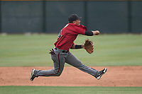 Arizona Diamondbacks shortstop Brandon Leyton (4) during an Extended Spring Training game against the Colorado Rockies at Salt River Fields at Talking Stick on April 16, 2018 in Scottsdale, Arizona. (Zachary Lucy/Four Seam Images)