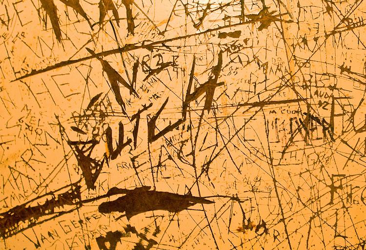 Graffiti, American culture, Men's Restroom, Highway 410, Washington State,
