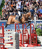 MIAMI BEACH, FL - APRIL 20: Edwina Tops-Alexander at the Longines Global Champions Tour finals in Miami Beach on April 20, 2019 in Miami Beach, Florida<br /> <br /> <br /> People:  Edwina Tops-Alexander