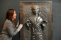 Star Power - A one-off life-sized model of Han Solo frozen in carbonite emerged for sale