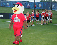 Glory, mascot of the Washington Freedom during a WPS match against the Boston Breakers at Maryland Soccerplex on July 29, in Boyds, Maryland.Freedom won 1-0.
