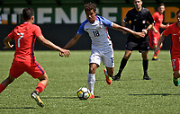 Portland, OR - Saturday August 12, 2017: Jean-Julian Foe Nuphaus during friendly match between the USMNT U17's and Chile u17's at Providence Park in Portland, OR.
