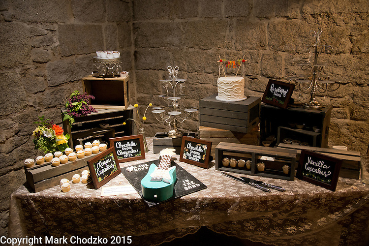 The cake table.