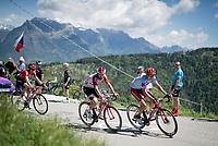 Dmitry Strakhov (RUS/Katusha-Alpecin) & Thomas de Gendt (BEL/Lotto-Soudal) up the Cima Campo climb<br /> <br /> Stage 20: Feltre to Croce D'Aune-Monte Avena (194km)<br /> 102nd Giro d'Italia 2019<br /> <br /> ©kramon