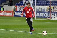 Harrison, NJ - Wednesday Feb. 22, 2017: Alex Muyl prior to a Scotiabank CONCACAF Champions League quarterfinal match between the New York Red Bulls and the Vancouver Whitecaps FC at Red Bull Arena.