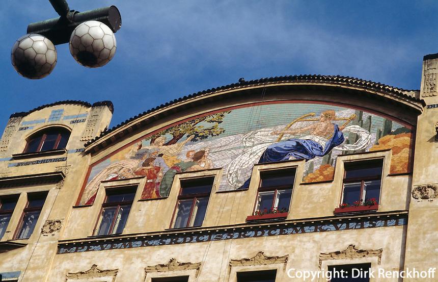 Jugendstilhaus Masarykkai 16, Prag, Tschechien, Unesco-Weltkulturerbe