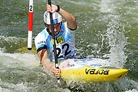 4th September 2021; Parc Olimpic del Segre, La Seu D'Urgell ICF Slalom World Cup, men's Kayak Final;  Martin Srabotnik (SLO)