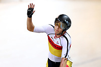 Corbin Strong finishes first in the Men Elite Omnim Points Race 25km during the 2020 Vantage Elite and U19 Track Cycling National Championships at the Avantidrome in Cambridge, New Zealand on Saturday, 25 January 2020. ( Mandatory Photo Credit: Dianne Manson )