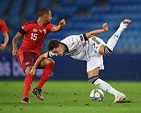 6th August 2020, Basel, Switzerland. UEFA National League football, Switzerland versus Germany;  Djibril Sow (sui) and Julian Draxler (ger).