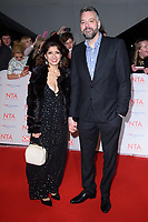 Shappi Khorsandi and Iain Lee<br /> arriving for the National Television Awards 2018 at the O2 Arena, Greenwich, London<br /> <br /> <br /> ©Ash Knotek  D3371  23/01/2018