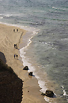 Israel, Sharon region, a view of the Mediterranean Sea from Apollonia National Park
