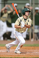 February 22, 2009:  Outfielder Mike Consolmagno (4) of the University of South Florida during the Big East-Big Ten Challenge at Naimoli Complex in St. Petersburg, FL.  Photo by:  Mike Janes/Four Seam Images