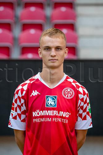 16th August 2020, Rheinland-Pfalz - Mainz, Germany: Official media day for FSC Mainz players and staff; Niklas Tauer FSV Mainz 05