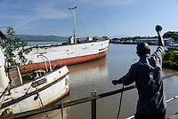 "KENYA Kisumu, old steam vessel SS Usoga built 1913 and SS Nyanza built 1907 by Bow, McLachlan and Company of Paisley in Renfrewshire, Scotland as knock down"" vessel; that is, she was bolted together in the shipyard at Paisley, all the parts marked with numbers, disassembled into many hundreds of parts and transported in kit form by sea to Kenya for reassembly, since 2002 out of service / KENIA  Kisumu, altes Dampfschiff Usoga gebaut 1913 und Nyanza, gebaut 1907 von Bow, McLachlan and Company of Paisley in Renfrewshire, Scotland, seit 2002 ausser Dienst"