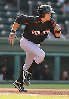 Catcher Mike Blanke (32) of the Kannapolis Intimidators, Class A affiliate of the Chicago White Sox, in a game against the Greenville Drive on May 27, 2011, at Fluor Field at the West End in Greenville, S.C. Photo by Tom Priddy / Four Seam Images