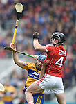 Shane O Donnell of Clare in action against Colm Spillane of Cork during their Munster Senior game at Pairc Ui Chaoimh. Photograph by John Kelly.