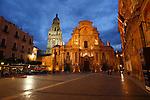 La Catedral de Murcia en la Plaza del Cardenal Belluga. Murcia.