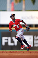 Fort Myers Miracle shortstop Nick Gordon (2) during a game against the Bradenton Marauders on August 3, 2016 at McKechnie Field in Bradenton, Florida.  Bradenton defeated Fort Myers 9-5.  (Mike Janes/Four Seam Images)