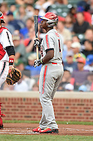 Ke'Bryan Hayes (8) of Concordia Lutheran High School in Tomball, Texas during the Under Armour All-American Game on August 16, 2014 at Wrigley Field in Chicago, Illinois.  (Mike Janes/Four Seam Images)