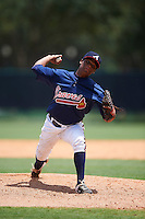 GCL Braves relief pitcher Jasseel De La Cruz (78) during a game against the GCL Blue Jays on August 5, 2016 at ESPN Wide World of Sports in Orlando, Florida.  GCL Braves defeated the GCL Blue Jays 9-0.  (Mike Janes/Four Seam Images)