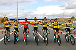 Race winner Primoz Roglic (SLO) and Team Jumbo-Visma line up for the cameras during Stage 18 of the Vuelta Espana 2020, running 139.6km from Hipódromo de La Zarzuela to Madrid, Spain. 8th November 2020. <br /> Picture: Luis Angel Gomez/PhotoSportGomez | Cyclefile<br /> <br /> All photos usage must carry mandatory copyright credit (© Cyclefile | Luis Angel Gomez/PhotoSportGomez)