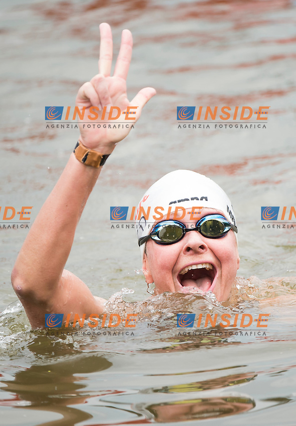 MAURER Angela GER bronze medal<br /> Open Water - Women's  25km <br /> Day 09 01/08/2015<br /> XVI FINA World Championships Aquatics Swimming<br /> Kazan Tatarstan RUS July 24 - Aug. 9 2015 <br /> Photo Giorgio Perottino/Deepbluemedia/Insidefoto