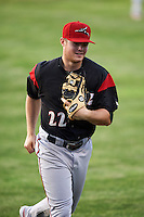 Richmond Flying Squirrels third baseman Christian Arroyo (22) jogs to the dugout during a game against the Erie SeaWolves on May 27, 2016 at Jerry Uht Park in Erie, Pennsylvania.  Richmond defeated Erie 7-6.  (Mike Janes/Four Seam Images)