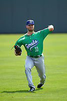 Hartford Yard Goats pitcher Zach Matson (33) during warmups before a game against the Somerset Patriots on September 12, 2021 at TD Bank Ballpark in Bridgewater, New Jersey.  (Mike Janes/Four Seam Images)