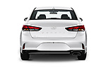 Straight rear view of 2019 Hyundai Sonata SE 4 Door Sedan Rear View  stock images