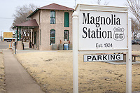 MAGNOLIA STATION<br /> <br /> The City of Vega has restored this historic filling station on Route 66.  It was the second gas station to be built in Vega in the early 20's and located on what is now US Hwy 385 south of the Oldham County Courthouse.