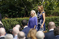 "Sara Netanyahu and First lady Melania Trump arrive prior to the ceremony hosted by Mrs. Trump and United States President Donald J. Trump for a signing ceremony of the ""Abraham Accords"" on the South Lawn of the White House in Washington, DC on Tuesday, September 15, 2020.  The Trumps are joined by Prime Minister Benjamin Netanyahu of Israel; Sheikh Abdullah bin Zayed bin Sultan Al Nahyan, Minister of Foreign Affairs and International Cooperation of the United Arab Emirates; and Dr. Abdullatif bin Rashid Alzayani, Minister of Foreign Affairs, Kingdom of Bahrain.<br /> Credit: Chris Kleponis / Pool via CNP"